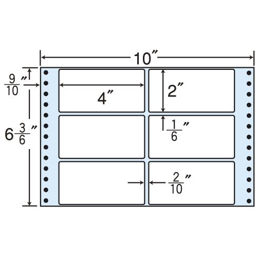 ラベルシール MT10X タックシール (連続ラベル) レギュラータイプ 500折×2【代引不可】