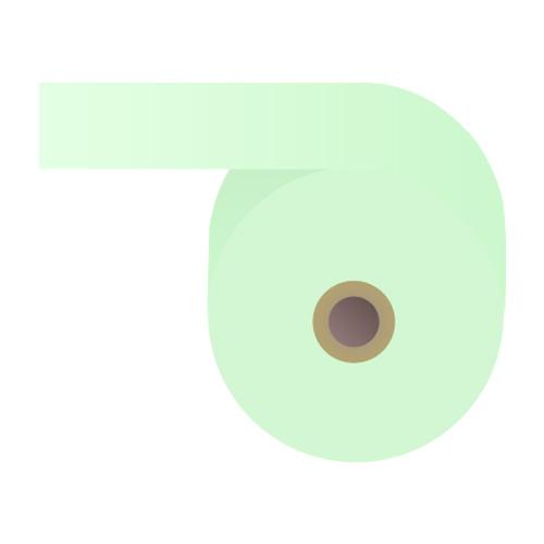 感熱紙券売機用ロール 裏巻 58×240×35mm ブルー ミシン目なし 5巻 (ノーマル・5年保存)【代引不可】