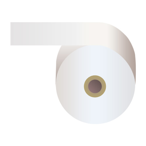 感熱紙券売機用ロール 裏巻 58×243×35mm 白 ミシン目あり 5巻 (ノーマル・5年保存)