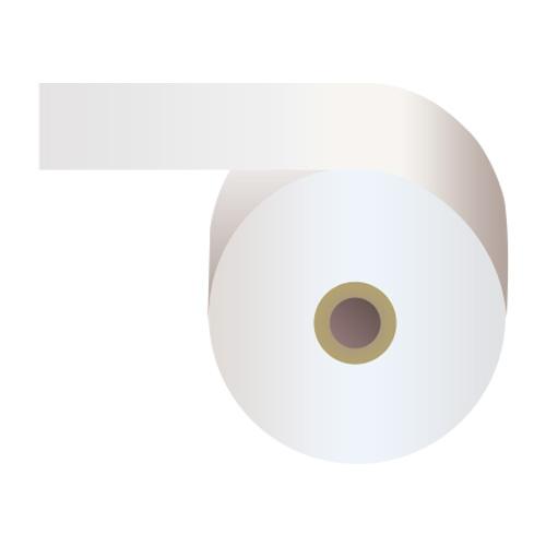 感熱紙券売機用ロール 裏巻 58×243×35mm白 ミシン目あり 5巻 (ノーマル・5年保存)【代引不可】