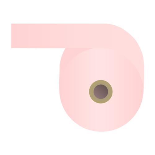カラー感熱紙ロール 【60mm×48mm×12mm】ピンク 100巻 RS6048PP【代引不可】
