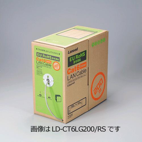 【ELECOM】CAT6LANケーブルリール巻 300m LD-CT6/LG300/RS ※代引不可