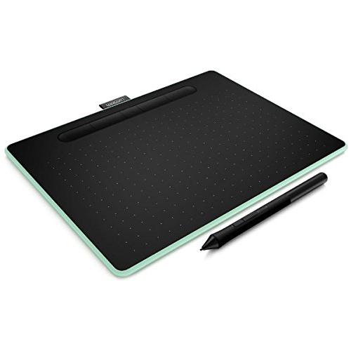 【取寄品】ワコム ペンタブレット Intuos Medium ワイヤレス ピスタチオグリーン CTL-6100WL/E0 ペンタブ 液晶ペンタブレット