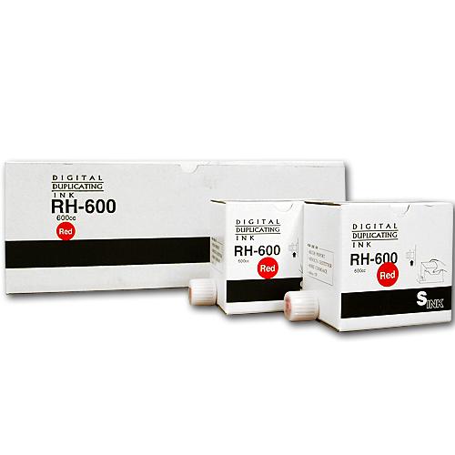 軽印刷機対応インク RH-600 赤 20本セット ※代引不可