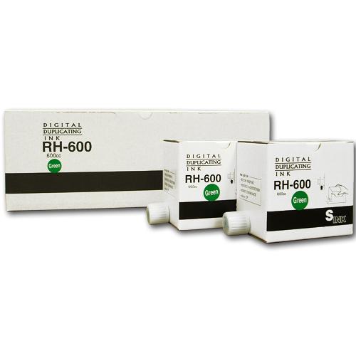 軽印刷機対応インク RH-600 緑 20本セット ※代引不可