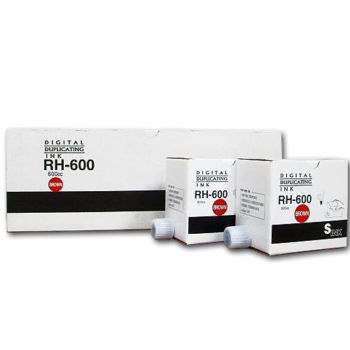 軽印刷機対応インク RH-600 茶 20本セット ※代引不可