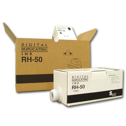 軽印刷機対応インク RH-50 黒 6本セット 汎用品※代引不可