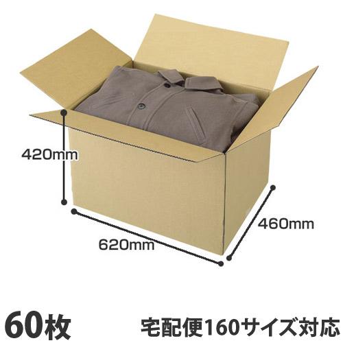 国産 ダンボール(段ボール) 無地ダンボール 引越し・梱包用3Lサイズ (160サイズ対応)60枚セット