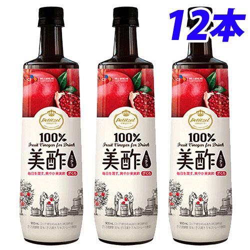CJジャパン 美酢 ざくろ味 900ml×12本