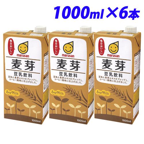 いつでもたっぷり飲める 記念日 ファミリーサイズのお徳用です 日本未発売 マルサンアイ 豆乳飲料 麦芽 1000ml×6本 豆乳 紙パック ドリンク 1L 大豆 乳飲料 乳製品