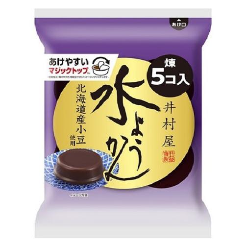 北海道産小豆使用 18%OFF 風味豊かで なめらかな食感の水ようかん 62g×5個入 井村屋 袋入水ようかん 《週末限定タイムセール》