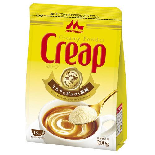 コーヒーや紅茶は勿論 カレーやシチューなどの隠し味にも 森永乳業 クリープ 新作販売 詰め替え用 ミルク 粉 上等 フレッシュ コーヒー 200g