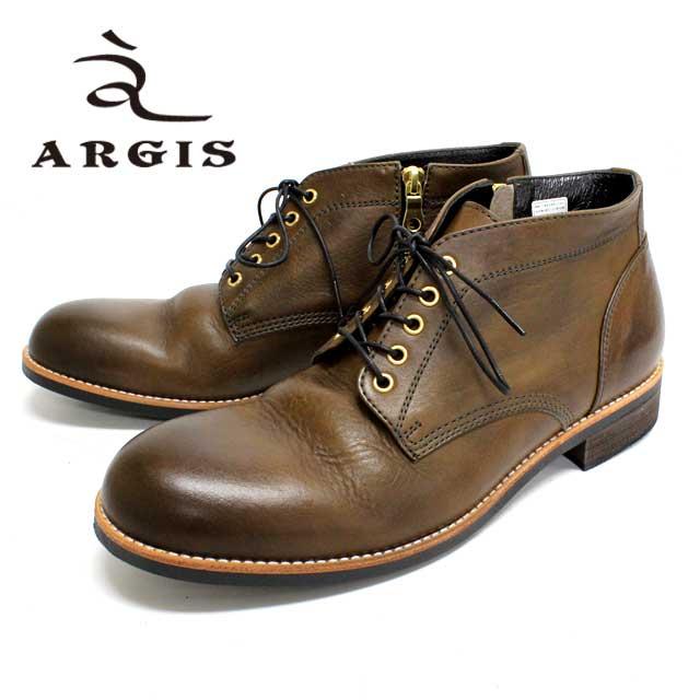 【SALE】ARGIS アルジス22236 5ホール チャッカブーツ メンズGREY グレー ブーツ レザー本革 革靴 靴 カジュアル【日本製】【店頭受取対応商品】