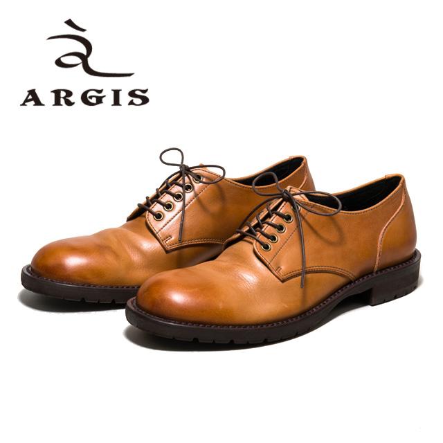 【SALE】ARGIS アルジス81104 5アイレット ギブソン シューズ メンズ カジュアルBROWN ブラウン 外羽根 本革 革靴 短靴 タンクソールセメント製法 合成底 日本製 【店頭受取対応商品】