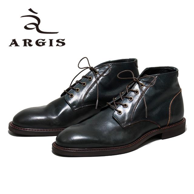 [10bi]ARGIS アルジス82214 5アイレット レースアップブーツ 革靴NAVY ネイビー メンズ ショートブーツ ブーツ シボレザーシューズ シューズ 本革日本製 Made in JAPAN【店頭受取対応商品】