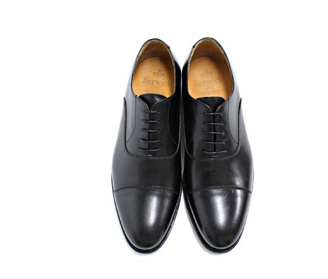 Berwick Berwick 3010 BLACK: black leather cowhide leather bottom mens in blades straight tip black = = 10P25Oct14