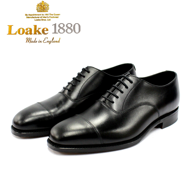 [10bi]LOAKE ロークALDWYCH 内羽根 ストレート 5穴本革 革靴 靴 メンズ レザーソール BLACK 黒【店頭受取対応商品】