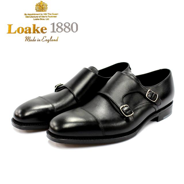[10bi]LOAKE ロークCANNON ダブルモンクストラップ ストレート本革 革靴 靴 メンズ レザーソール 【店頭受取対応商品】