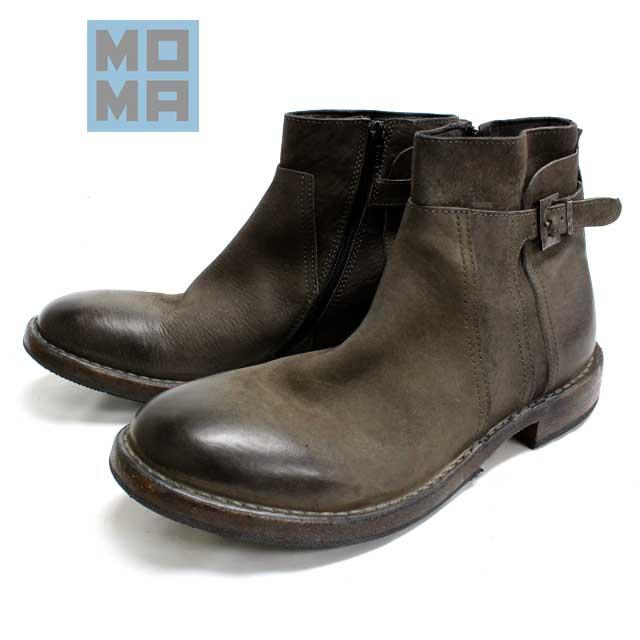 [10bi]MOMA モーマ63706 ジョッパーブーツ プレーントゥカジュアル ラウンド グレー本革 革靴 靴 メンズ【イタリア製】【店頭受取対応商品】