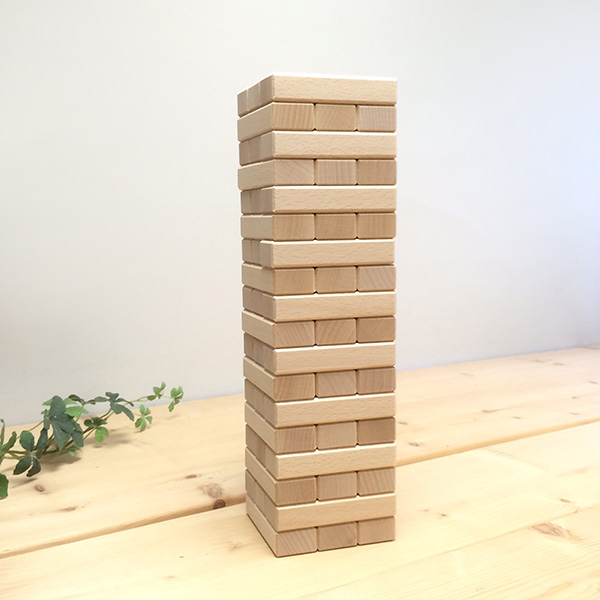 "(Name for put-friendly) wood Jenga ""Rainbow Zheng"" (made in Japan)"