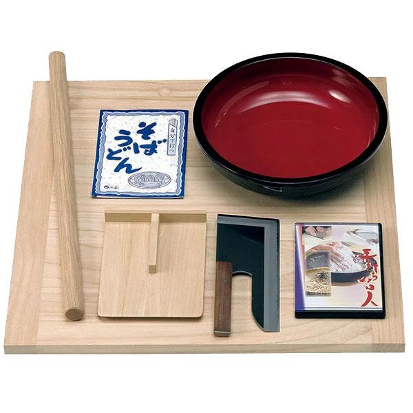 そば打ちセット(DVD付) 木製のギフトアイテム 新生活のプレゼント