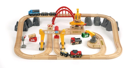 Toy Wooden Toy Infant Child Wooden Present Gift Birthday Of The Brio ブリオ Cargo Rail Deluxe Set Boy 2 Years Old 3 Years Old 4 Years Old 5 Years
