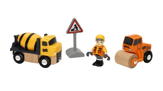 Wooden Toys BRIO Construction Vehicles Pack