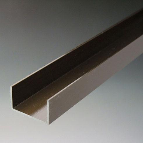 メーカー直送 アルミ材 アルミ型材 のC型チャンネルを販売 Cチャンネルは幅広い規格 寸法 お気にいる 建材やDIYにも最適です 30x1820mm ブロンズ サイズを取り揃え アルミチャンネル