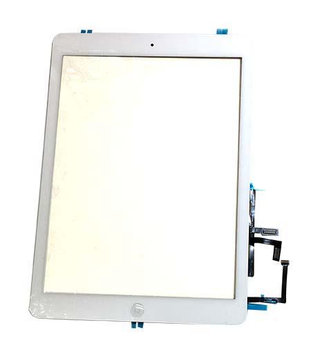 【iPad Air】フロントパネルデジタイザ ホワイト【アイパッドエアー修理交換用部品】【タッチパネル+前面ガラス+ホームボタン】