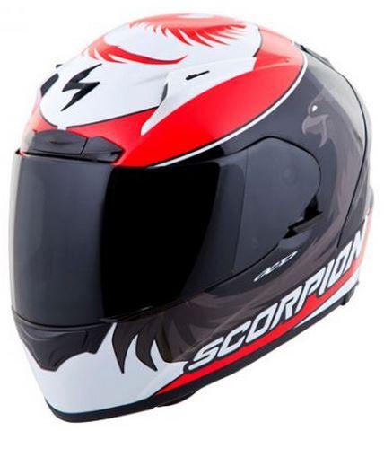 SALE Scorpion スコーピオン EXO-R2000 MASBOU Helmet 2014モデル フルフェイス ヘルメット レーシング ツーリング にも ライダー バイク ワケあり【黒赤】【AMACLUB】かっこいい おすすめ