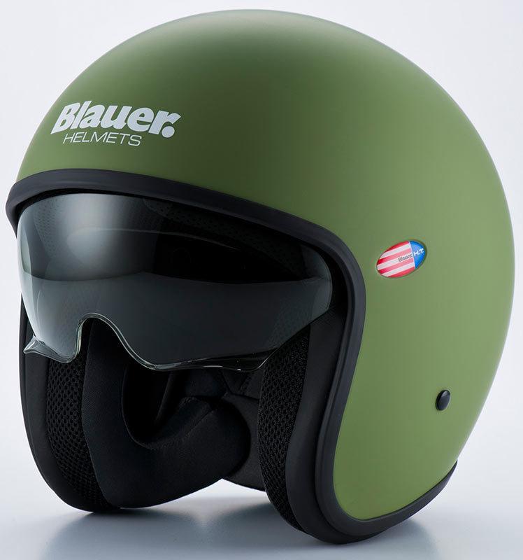 SALE Blauer ブラウアー Pilot 1.1 Green Matt Helmet 2015モデル ジェットヘルメット ツーリングにも ライダー バイク アウトレット【艶消緑】【AMACLUB】 おすすめ
