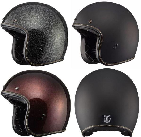 SALE Fly フライ .38 Helmet (SOLIDS) ジェットヘルメット オシャレ オープンフェイス ツーリングにも オンロード ライダー バイク 【艶消黒】【黒フレーク】【茶フレーク】【AMACLUB】 おすすめ