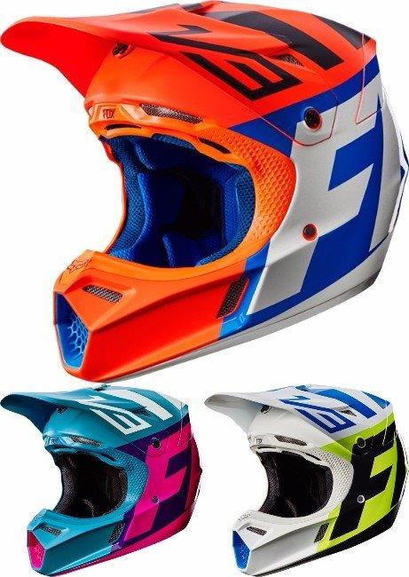 【子供用】FOX フォックス V3 Creo Helmet 2017モデル 子供用 ボーイズ ガールズ ヘルメット オフロード モトクロス ユース ワケあり【オレンジ】【Teal】【白黄】【AMACLUB】 キッズ おすすめ