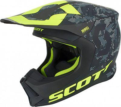 Scott スコット 550 S18 Camo cross Helmet 2018モデル モトクロス オフロードヘルメット バイク カモ クロス かっこいい【黒/黄】【AMACLUB】 おすすめ