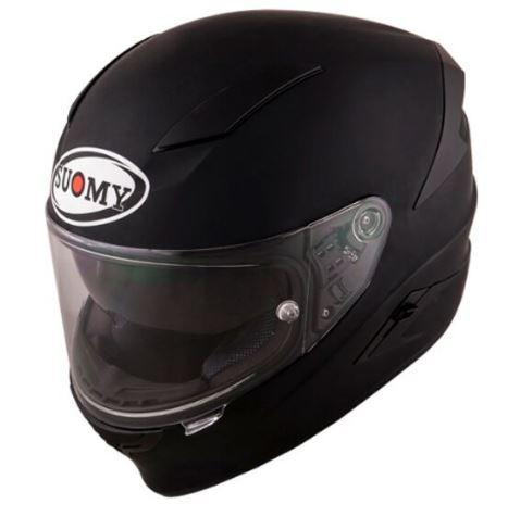 【ダブルバイザー】SUOMY スオーミー SPEEDSTAR HELMET フルフェイス ヘルメット 内部サンバイザー バイク ライダー ツーリング レーシングにも スピードスター イタリアブランド 【マットブラック】【AMACLUB】 おすすめ