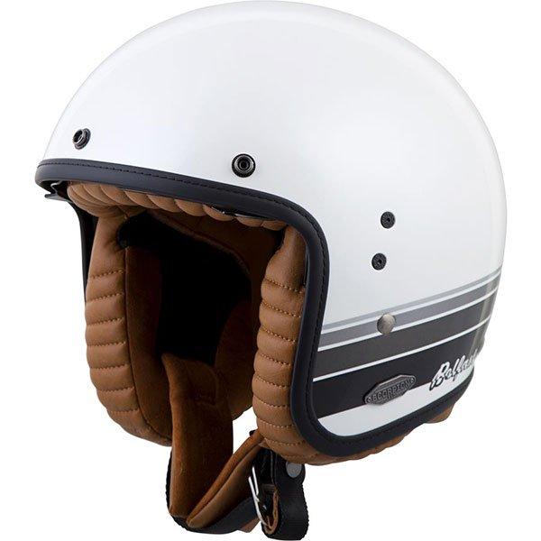 【3XLまで】【サンバイザー内蔵】SCORPION スコーピオン BELFAST BLANCO HELMET ジェットヘルメット オシャレ バイザージェット オープンフェイス バイク ライダー ツーリングにも ベルファスト ブランコ 大きいサイズ あり 【AMACLUB】かっこいい アメリカン
