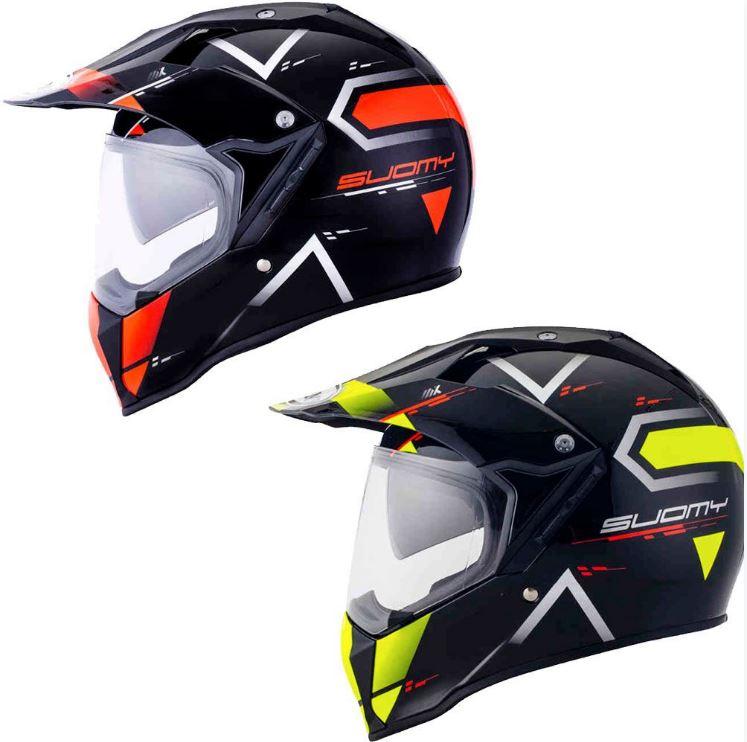 【ダブルバイザー】【DSタイプ】Suomy スオーミー MX Tourer Road Helmet フルフェイスヘルメット シールド付オフロードヘルメット デュアルスポーツ 内部サンバイザー バイク エンデューロ アウトレット【オレンジ】【イエロー】【AMACLUB】 おすすめ
