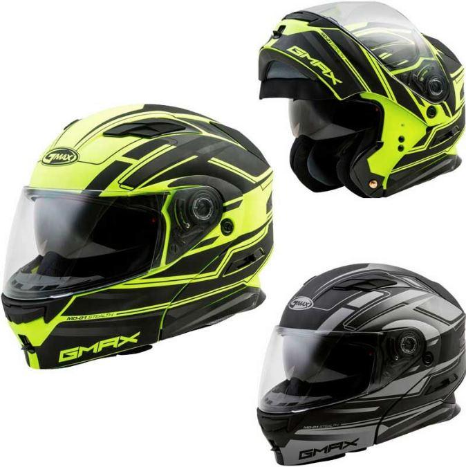 \5/5★キャッシュレス実質9%引/【ダブルバイザー】GMAX ジーマックス MD-01 MODULAR STEALTH STREET HELMET フルフェイスヘルメット バイク 大きいサイズあり【AMACLUB】
