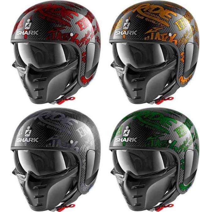 【カーボン】Shark シャーク S-Drak Freestyle Cup Jet Helmet 2018 ジェットヘルメット オシャレ オープンフェイス バイク ツーリングにも Sダラク フリースタイル カップ 【赤】【オレンジ】【グレイ】【緑】かっこいい おすすめ 高級