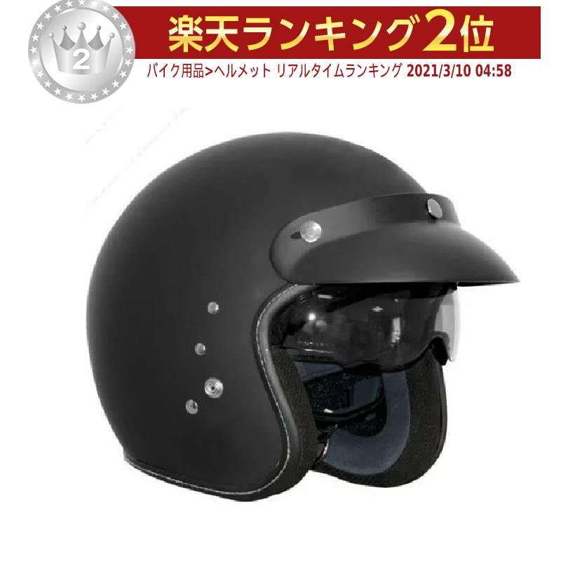 Rocc ロック Classic Pro Jet Helmet ジェットヘルメット オープンフェイス オンロード バイク ライダー ツーリングにも アウトレット【黒】コスパ 人気 おすすめ