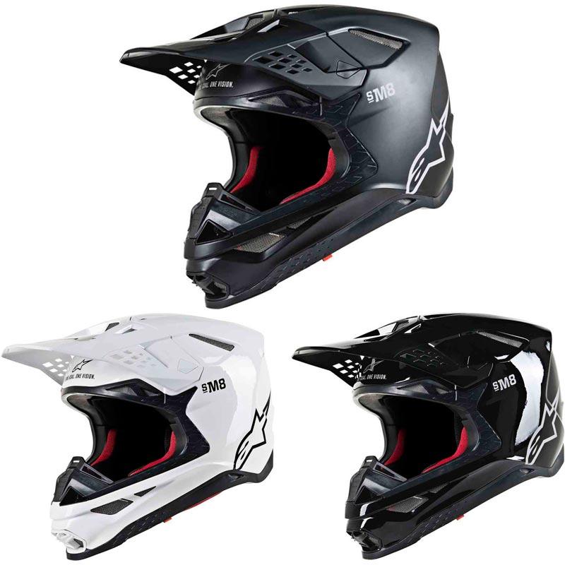 \5/5★キャッシュレス実質9%引/Alpinestars アルパインスターズ SUPERTECH S-M8 SOLID HELMET オフロードヘルメット モトクロスヘルメット バイク SM8 ソリッド かっこいい【AMACLUB】