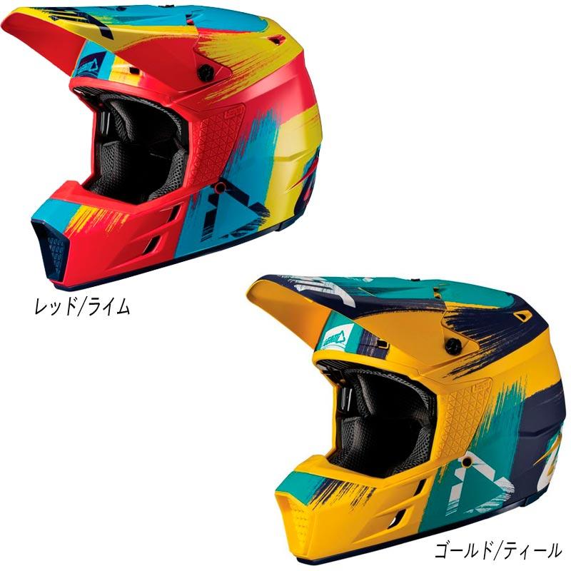\5/5★キャッシュレス実質9%引/LEATT リアット GPX 3.5 V19.1 2019モデル オフロードヘルメット モトクロスヘルメット バイク かっこいい おすすめ(レッド/ライム)(ゴールド/ティール)(AMACLUB) 街乗り