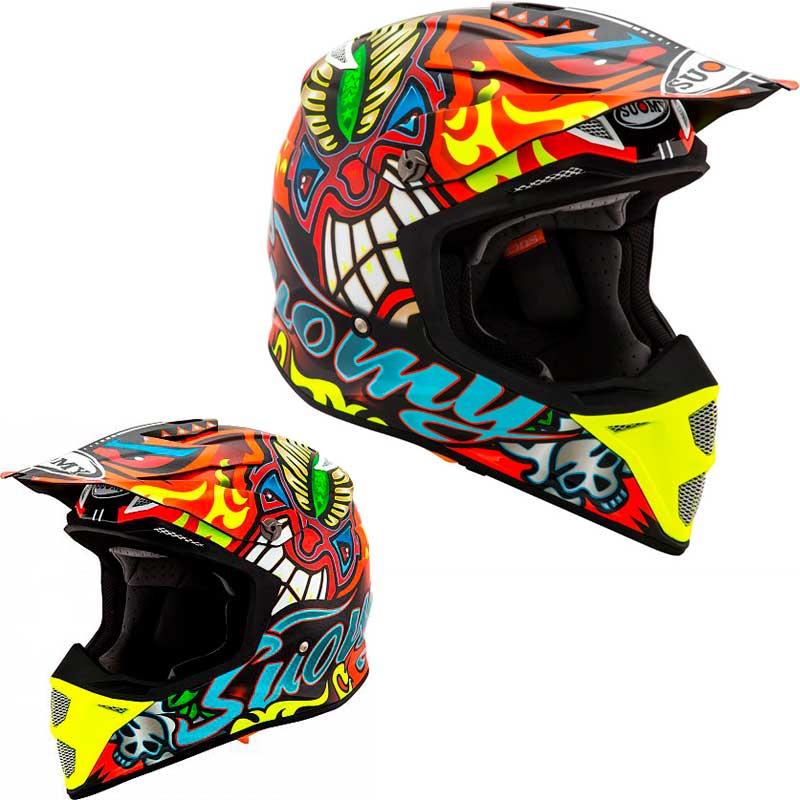 Suomy スオーミー MX Speed Tribal 2019モデル モトクロスヘルメット オフロードヘルメット バイク かっこいい スピード トライバル アウトレット(レッド/オレンジ/イエロー)(AMACLUB)