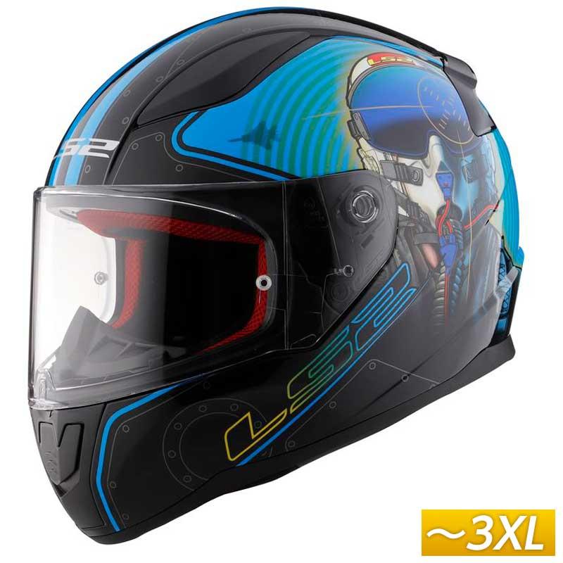 \5/5★キャッシュレス実質9%引/【3XLまで】LS2 FF353 Rapid MACH 2 フルフェイスヘルメット バイク ツーリング かっこいい ラピッド マッチ2 大きいサイズ あり(ファイターパイロット)(AMACLUB)