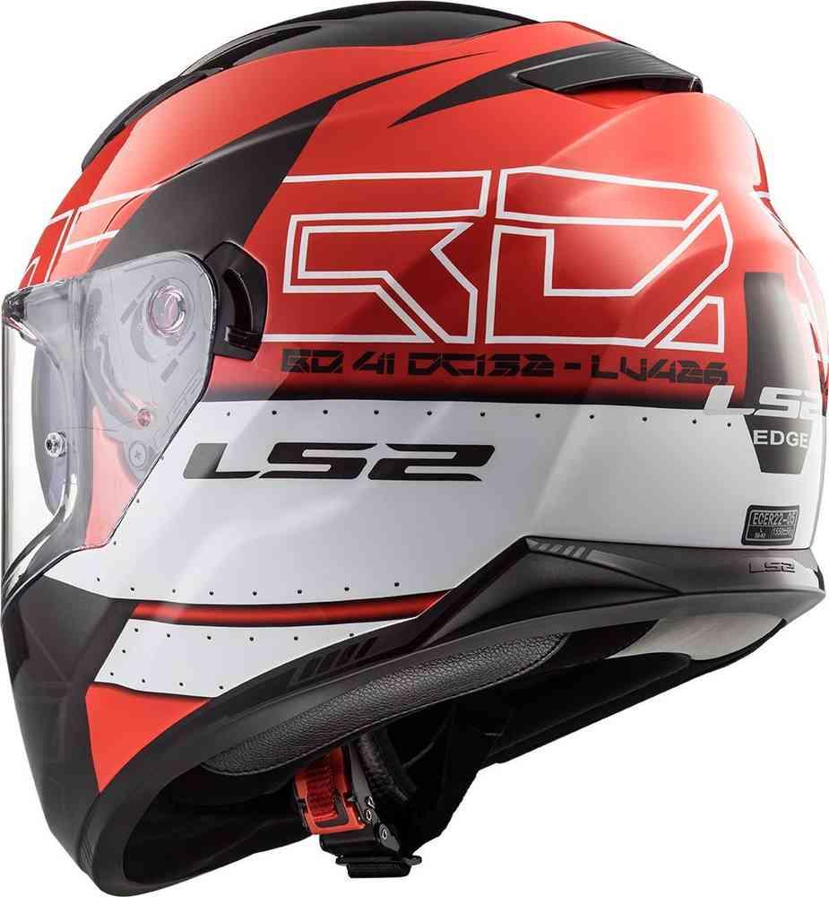 Kub Black//Red LS2 FF320 Stream Evo Full Face Motorcycle Helmet New