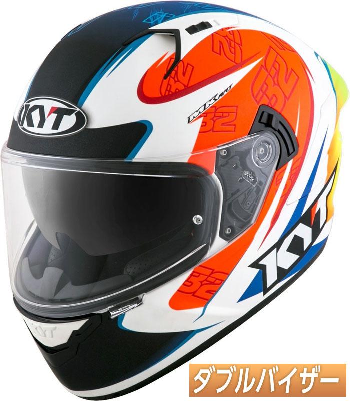 \5/5★キャッシュレス実質9%引/【ダブルバイザー】KYT NF-R Beam フルフェイスヘルメット サンバイザー バイク ツーリングにも かっこいい アートワーク おすすめ (オレンジ/ホワイト/ブルー)(AMACLUB) 街乗り