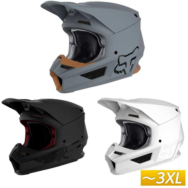 \5/5★キャッシュレス実質9%引/FOX フォックス V1 MATTE 2020モデル モトクロスヘルメット オフロードヘルメット バイク かっこいい マット おすすめ(ストーン)(黒)(ホワイト)(AMACLUB) 街乗り