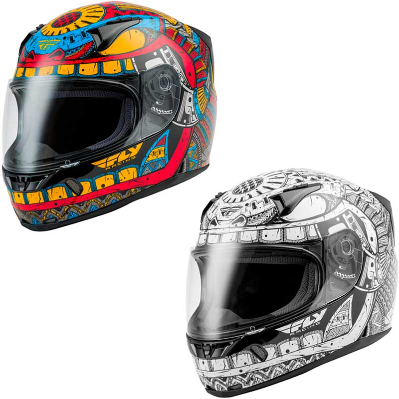 FLY フライ REVOLT FS CODEX フルフェイスヘルメット バイク かっこいい ツーリング レーシング かっこいい リボルト コーデックス おすすめ(レッド/ブルー/イエロー)(ホワイト/ブラック)(AMACLUB) 街乗り