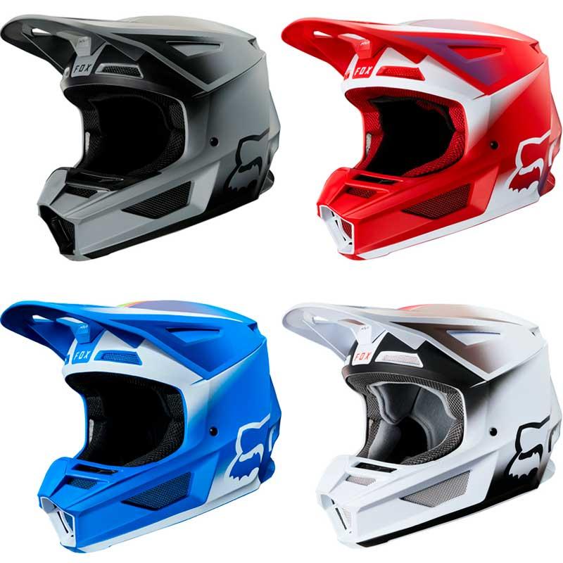\5/5★キャッシュレス実質9%引/FOX フォックス V2 VLAR 2020モデル モトクロスヘルメット オフロードヘルメット バイク かっこいい ボラール(黒)(フレームレッド)(ブルー)(ホワイト)(AMACLUB) 街乗り