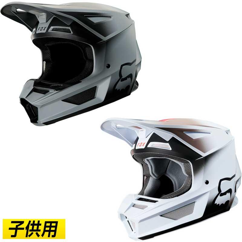\5/5★キャッシュレス実質9%引/【子供用】FOX フォックス V2 VLAR 2020モデル キッズ モトクロスヘルメット オフロードヘルメット バイク かっこいい ボラール(黒)(ホワイト)(AMACLUB) 街乗り